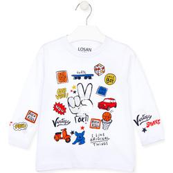 Vêtements Enfant T-shirts manches longues Losan 025-1026AL Blanc
