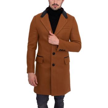 Vêtements Homme Manteaux Monsieurmode Veste caban fashion homme Veste 2088B-10 marron Marron