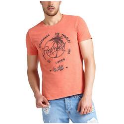 Vêtements Homme T-shirts manches courtes Guess T-Shirt Homme RETROPICAL M92I49 Orange (rft) Orange
