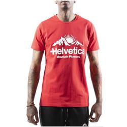 Vêtements Homme T-shirts manches courtes Helvetica Tee-shirt Rouge