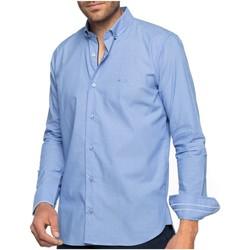 Vêtements Homme Chemises manches longues Shilton Chemise manches longues droite LONDON Bleu ciel