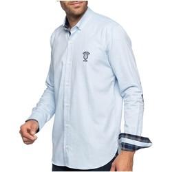 Vêtements Homme Chemises manches longues Shilton Chemise manches longues coudières COMPANY Bleu ciel
