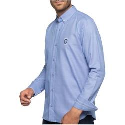 Vêtements Homme Chemises manches longues Shilton Chemise manches longues numéro 8 Bleu ciel
