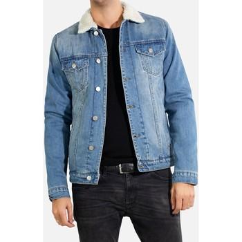 Vêtements Homme Vestes en jean Kebello Veste en jean sherpa Taille : H Ciel S Ciel