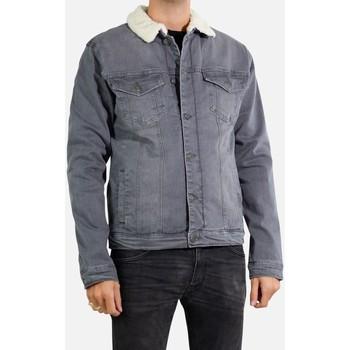 Vêtements Homme Vestes en jean Kebello Veste en jean sherpa Taille : H Gris S Gris