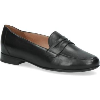 Chaussures Femme Mocassins Caprice Casual Talons Bas Noir Noir