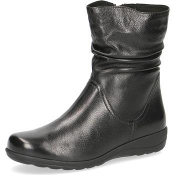 Chaussures Femme Bottines Caprice Bottines Flats Noir Noir