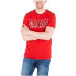 Vêtements Homme T-shirts manches courtes Guess T-Shirt Homme M83I04 FOIL BAND Rouge (rft) Rouge
