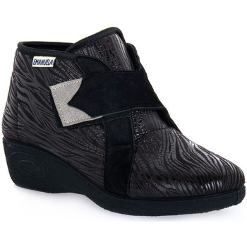Chaussures Femme Baskets montantes Emanuela 2302 VOX NERO Nero