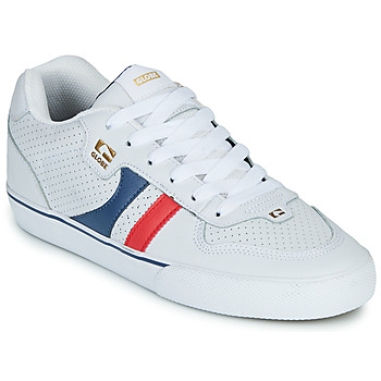 Chaussures Homme Baskets basses Globe ENCORE-2 Blanc / Bleu / Rouge