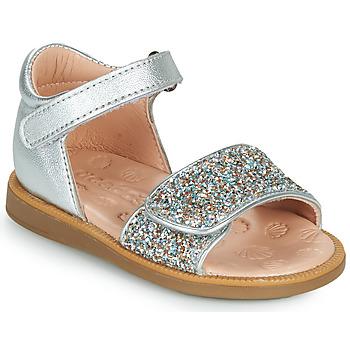 Chaussures Fille Sandales et Nu-pieds Acebo's 1232-PLATA Argenté