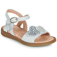 Chaussures Fille Sandales et Nu-pieds Acebo's 5500SU-BLANCO Blanc / Argenté