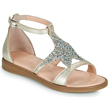 Chaussures Fille Sandales et Nu-pieds Acebo's 9895GE-PLATINO-C Doré