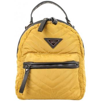 Sacs Femme Sacs à dos Girls Power Petit sac à dos  Star nylon surpiqué moutarde Multicolor