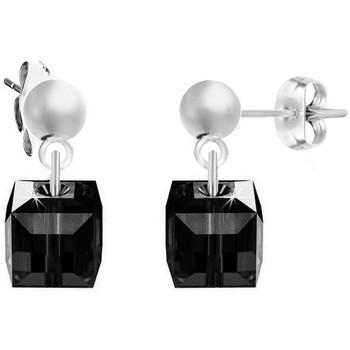 Montres & Bijoux Femme Boucles d'oreilles Sc Crystal BS2509-SE008-JET Argenté