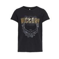 Vêtements Fille T-shirts manches courtes Only KONLINA Noir