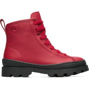 Chaussures Garçon Boots Camper Bottines cuir BRUTUS rouge