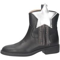 Chaussures Fille Bottes ville Florens K2420CAM Texano Enfant NOIR NOIR