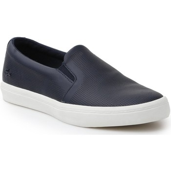 Chaussures Femme Slip ons Lacoste Gazon Slip On 116 1 CAW 7-31CAW0116003 granatowy