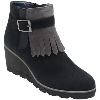 Chaussures Femme Bottines Angela Calzature ANSANGC100frangia nero