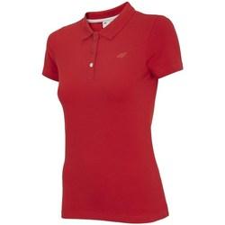Vêtements Femme Polos manches courtes 4F TSD008 Rouge