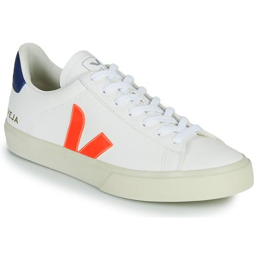 Chaussures Baskets basses Veja CAMPO Blanc / Orange / Bleu
