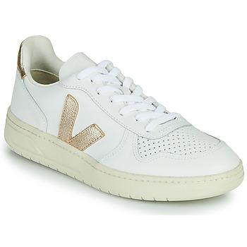 Chaussures Femme Baskets basses Veja V-10 Blanc / Doré