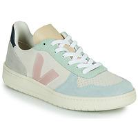Chaussures Femme Baskets basses Veja V-10 Blanc / Bleu