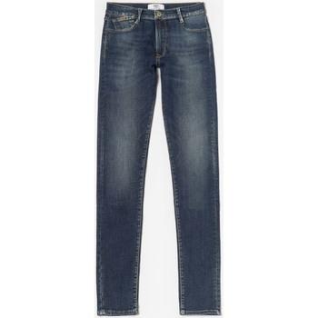 Vêtements Fille Jeans Little Cerise Power slim jeans taille haute bleu n°2 BLUE