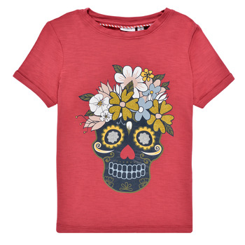 Vêtements Fille T-shirts manches courtes Name it NKFTHUNILLA Rouge