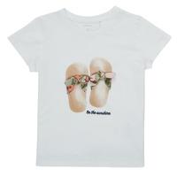 Vêtements Fille T-shirts manches courtes Name it NMFFISUMMER Blanc