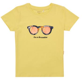 Vêtements Fille T-shirts manches courtes Name it NMFFISUMMER Jaune