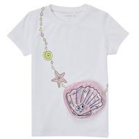 Vêtements Fille T-shirts manches courtes Name it NMFFEFA Blanc