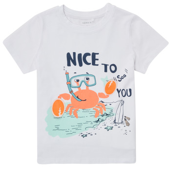 Vêtements Garçon T-shirts manches courtes Name it NMMFANO Blanc