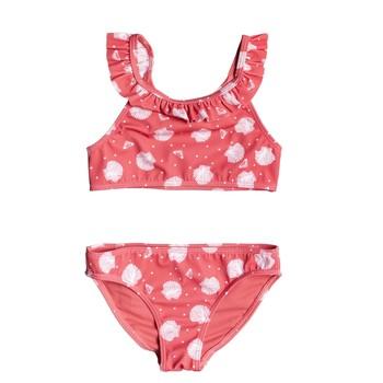 Vêtements Fille Maillots de bain 2 pièces Roxy TEENY EVERGLOW CROP TOP SET Rose
