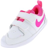 Chaussures Fille Baskets basses Nike Pico 5 scratch blanc rose Blanc