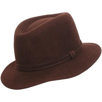Accessoires textile Homme Chapeaux Chapeau-Tendance Chapeau borsalino MORENO T57 Marron