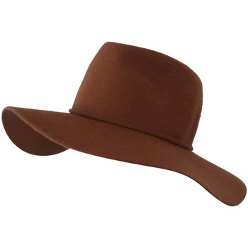 Accessoires textile Femme Chapeaux Chapeau-Tendance Chapeau capeline laine MILIE T56 Marron