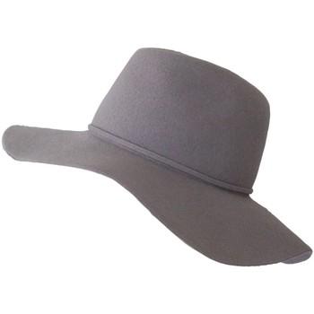 Accessoires textile Femme Chapeaux Chapeau-Tendance Chapeau capeline laine MILIE T58 Gris