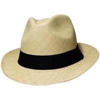 Accessoires textile Chapeaux Chapeau-Tendance Trilby panama veritable EQUATEUR T56 Beige