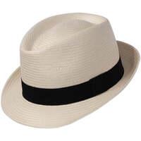 Accessoires textile Chapeaux Chapeau-Tendance Trilby panama véritable pliable T58 Blanc ivoire