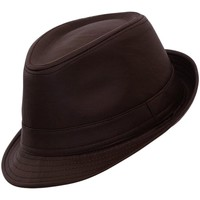 Accessoires textile Homme Chapeaux Chapeau-Tendance Chapeau trilby façon cuir MAX T60 Marron