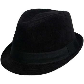 Accessoires textile Homme Chapeaux Chapeau-Tendance Chapeau trilby velours PAUL T59 Noir