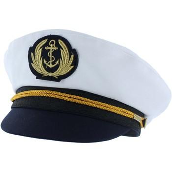 Accessoires textile Homme Casquettes Chapeau-Tendance Casquette marin ANDREJ T56 Blanc