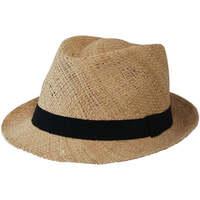 Accessoires textile Chapeaux Chapeau-Tendance Chapeau trilby paille EL COCO T58 Beige