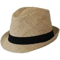 Accessoires textile Chapeaux Chapeau-Tendance Chapeau trilby paille EL COCO T59 Beige