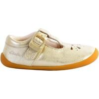 Chaussures Fille Baskets basses Clarks Basket Cuir  Roamer Star Or