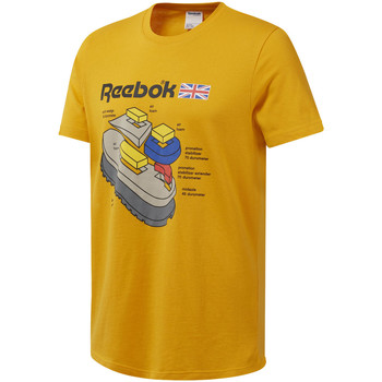 Vêtements Homme T-shirts manches courtes Reebok Sport DT8125 Jaune