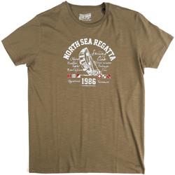 Vêtements Homme T-shirts manches courtes Key Up 2G78S 0001 Vert