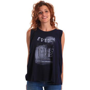 Vêtements Femme Débardeurs / T-shirts sans manche Key Up 5Z14S 0001 Bleu